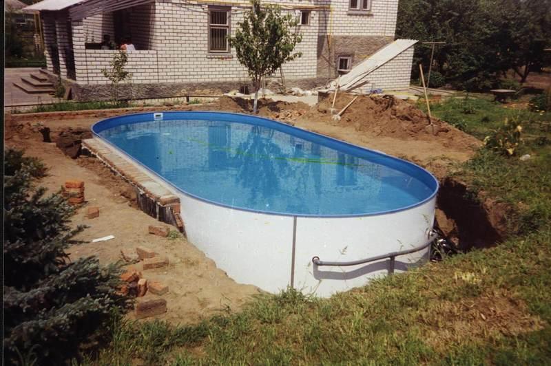 Сделать каркасный бассейн видео