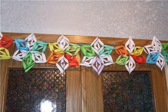 Новогодние гирлянды для дома своими руками из бумаги