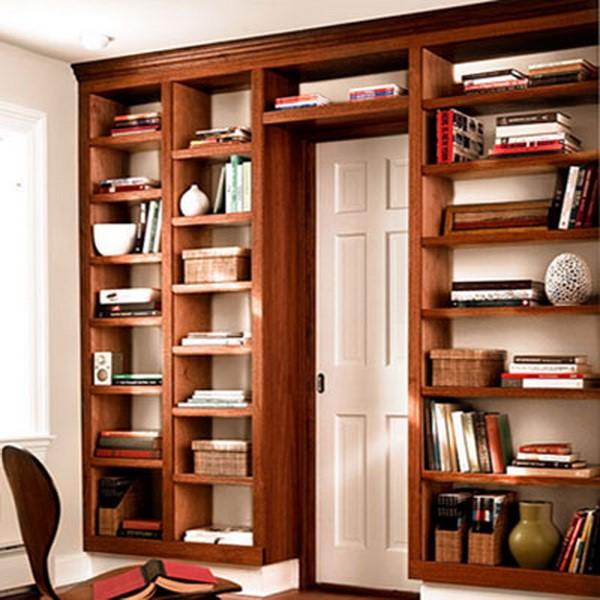 Шкафы и полки для книг своими руками