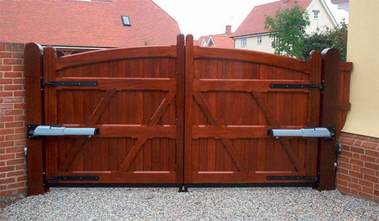 Открытые ворота своими руками 97