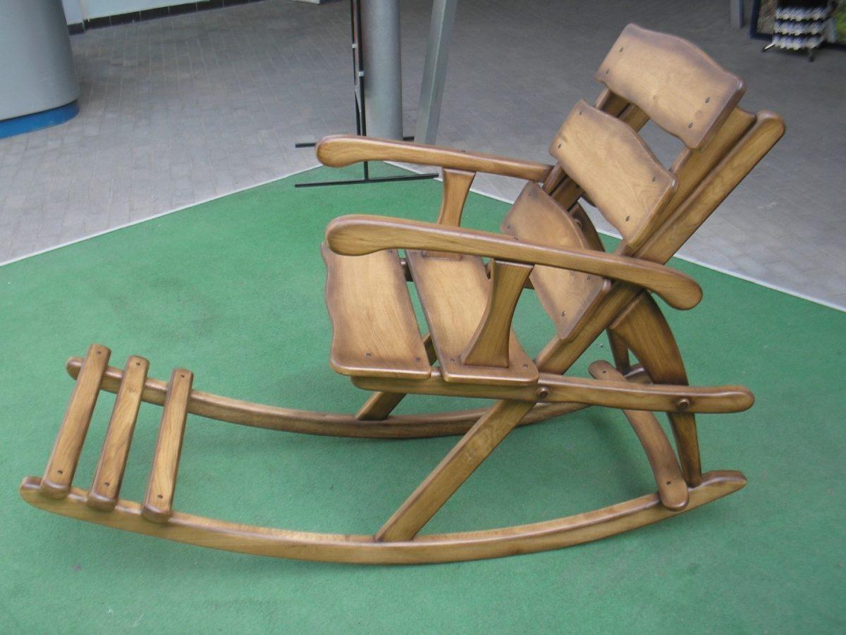 Кресло качалка своими руками из бруса 519