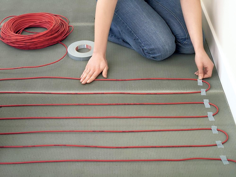 Как сделать теплый пол электрический кабельный своими руками 37