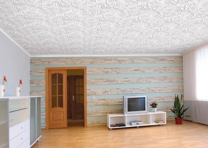 Потолок из плитки