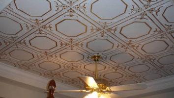 потолок плитка