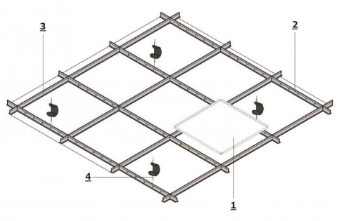 Кассетный потолок открытого типа