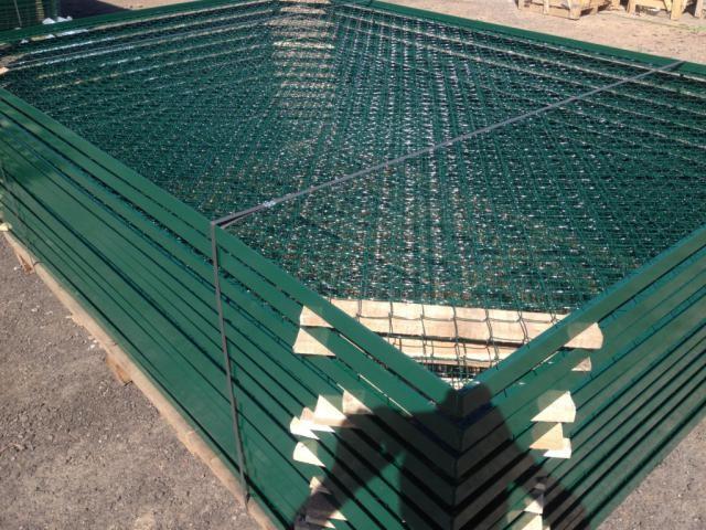 Сетчатый забор из рабицы