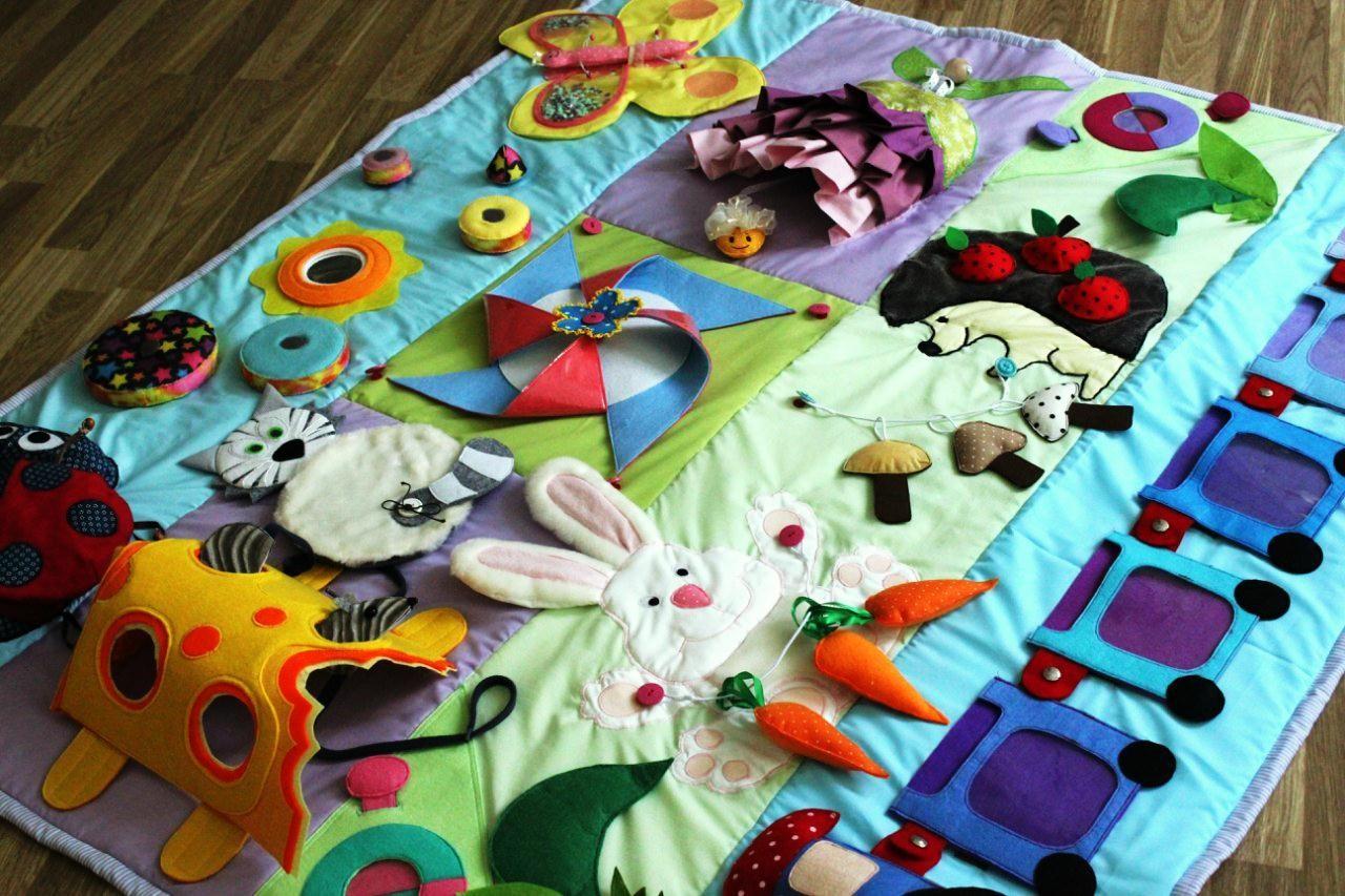 Как сделать развивающую коврик своими руками