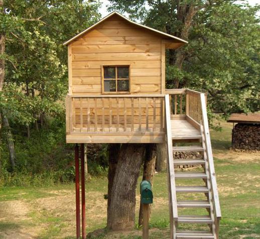Домик на дереве для детей своими руками фото